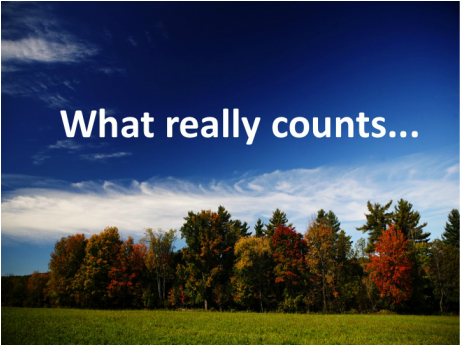 Do you know what counts?